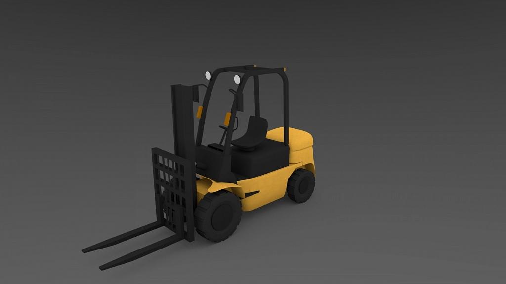 Forklift 3D model - Made using ender