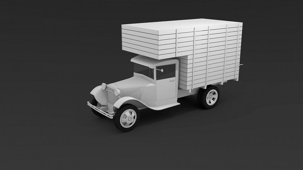 Gaz AA 3D model - Made using Blender