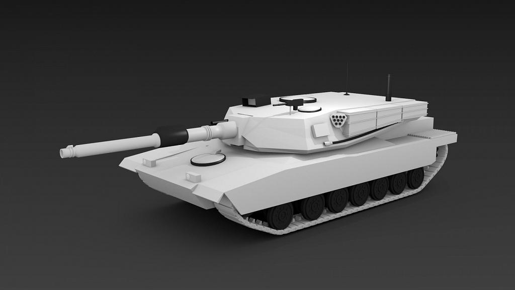M1 Abrams 3D model - Made using Blender